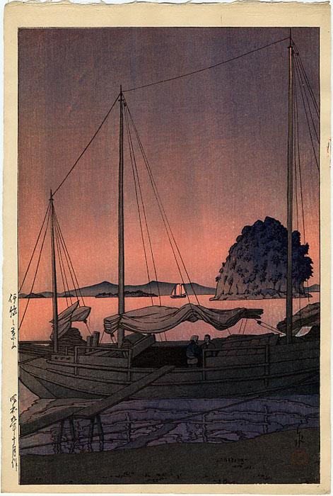 2445_Hasui_Harbor_Sunset
