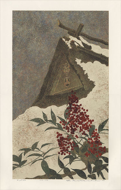 """No. 153 (Thatched Roof in the Snow)"" by Katsuda, Yokio"