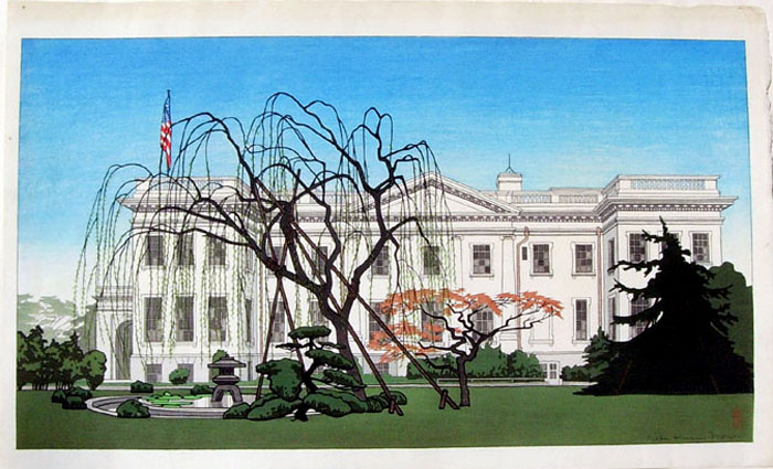 """Back View of The American Embassy at Yokohama"" by Brown, Pieter Irwin"