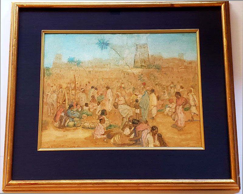 """Madura Marketplace - Original Watercolor"" by Bartlett, Charles"