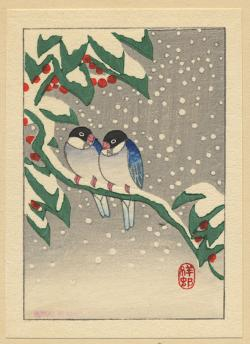 Thumbnail of Original Japanese Woodbock Print by Shoson