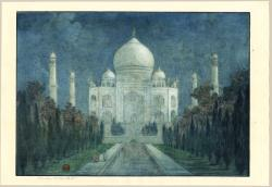 Thumbnail of Original Etching, engraving, drypoint printed in blue ink hand-colored with watercolor. by Bartlett, Charles