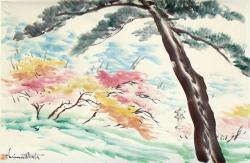 Thumbnail of Sumi-e and watercolors on paper by Obata, Chiura