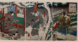 Thumbnail of Original Japanese Woodblock Print - Triptych by Kuniyoshi