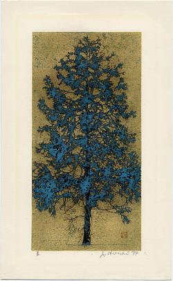 Thumbnail of Original Woodblock Print on Gold Leaf by Hoshi, Joichi